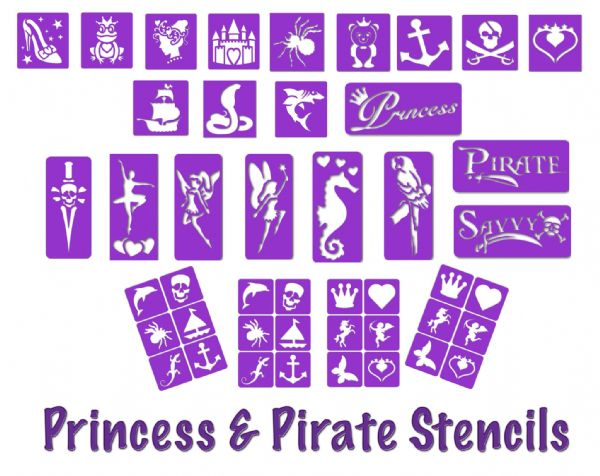 Princess & Pirate Stencil Set